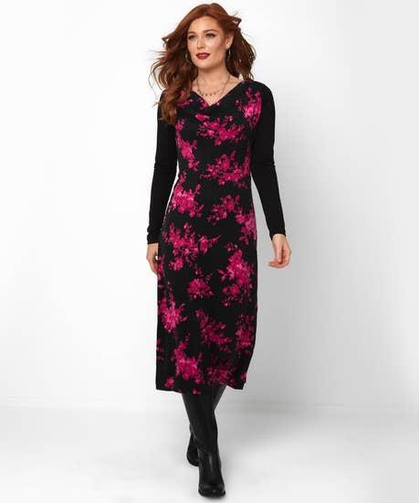 Floral Drape Dress