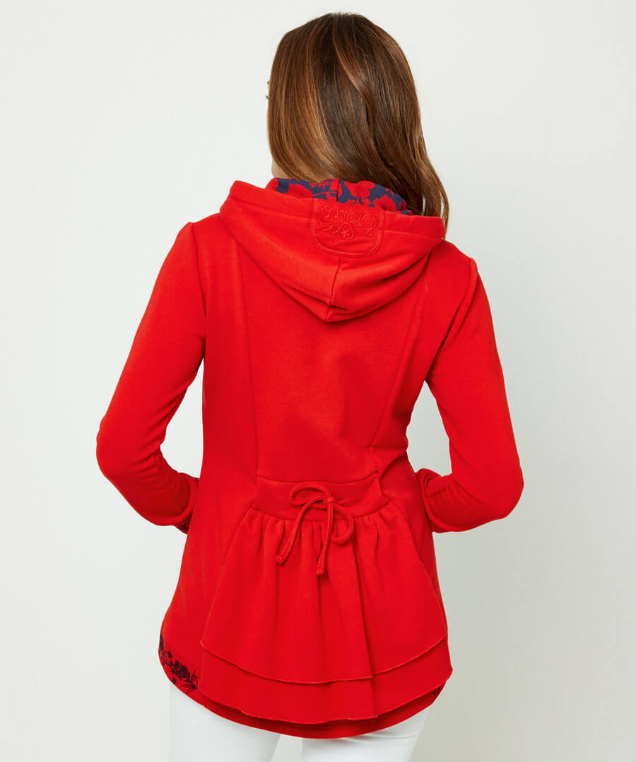 Embroidered Hoody Model Back
