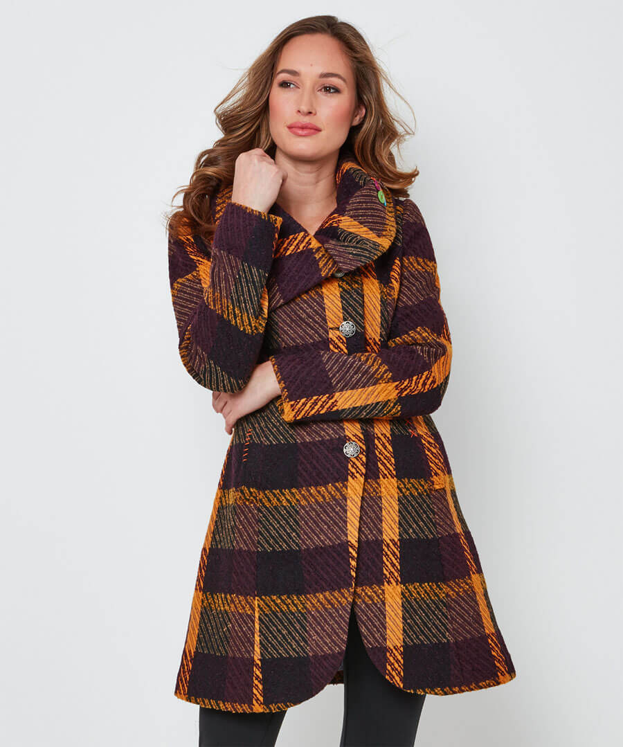 Asymmetic Collar Coat