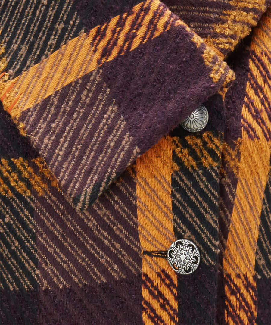 Asymmetic Collar Coat Back