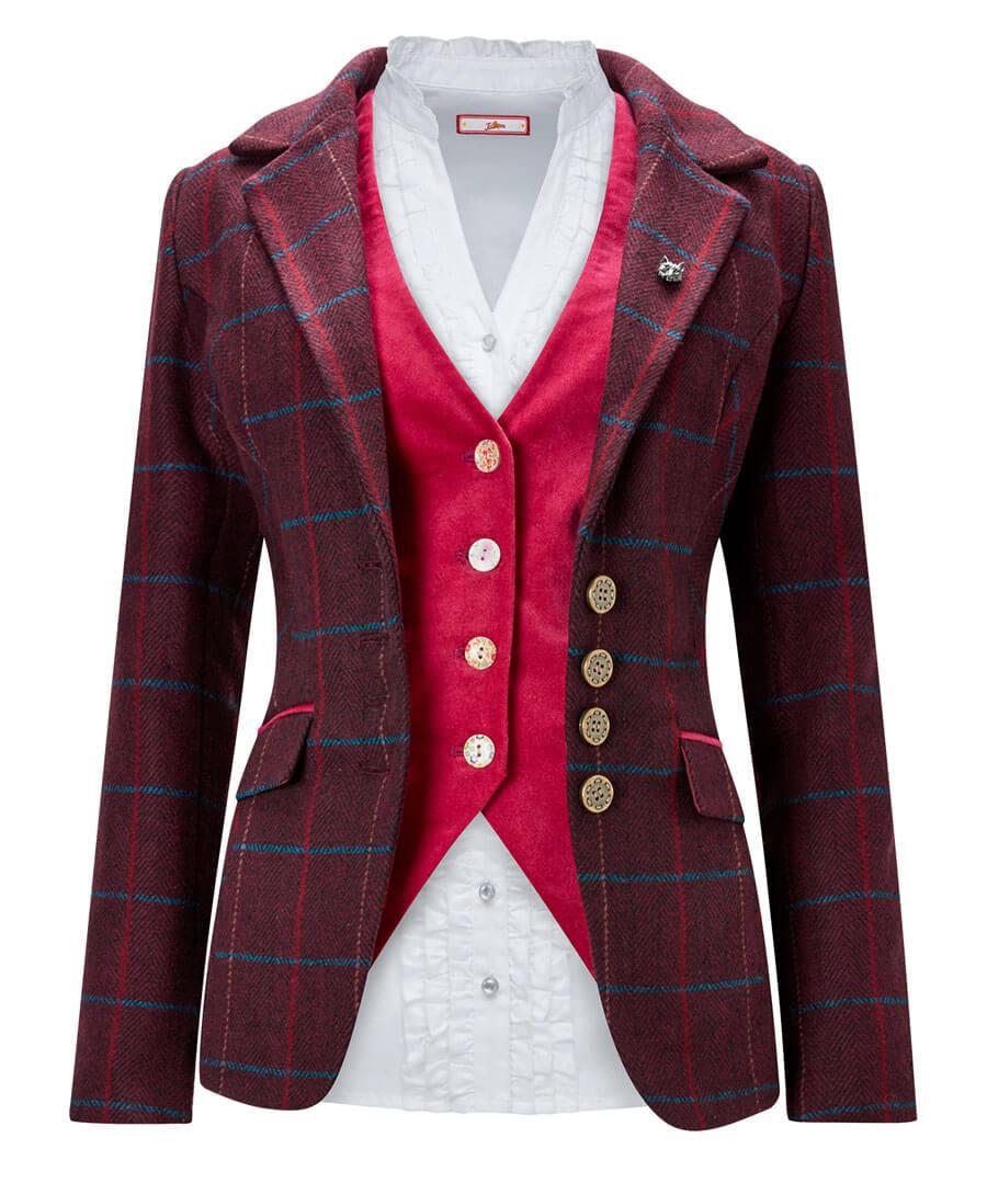 Stunning Check Jacket Model Front