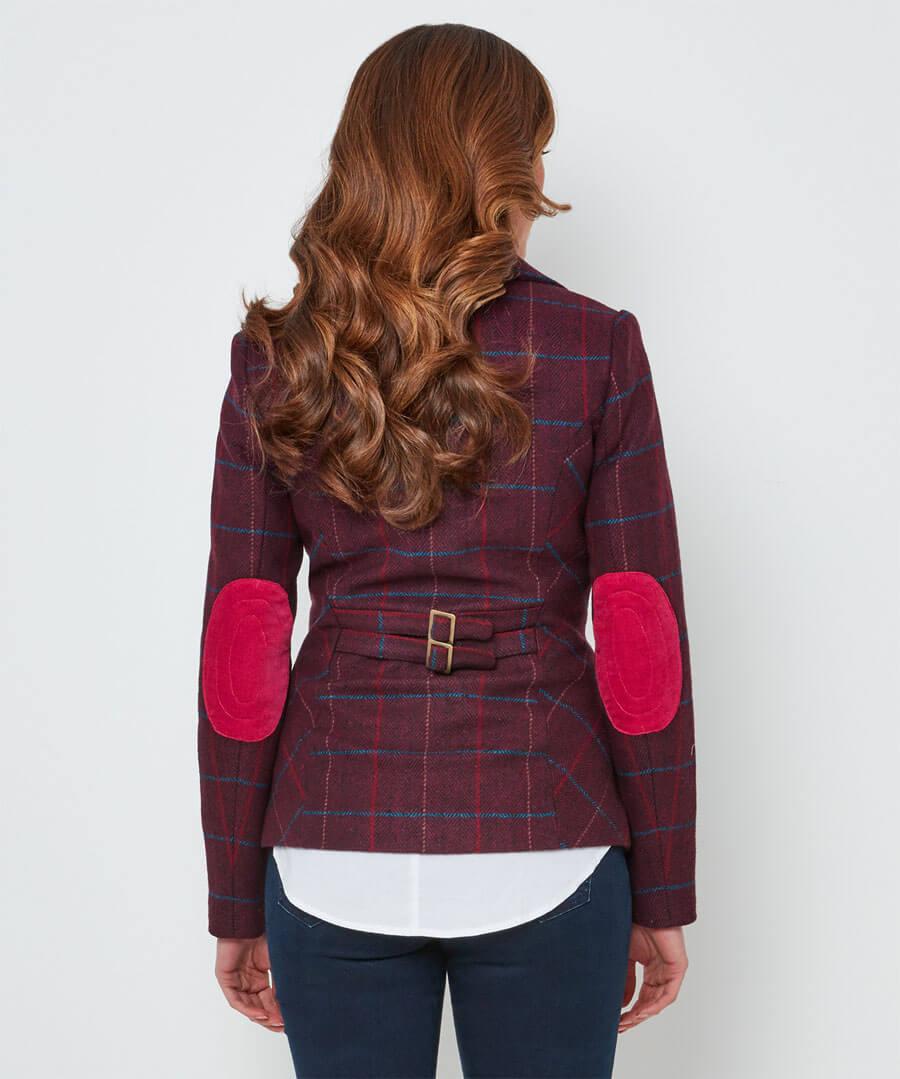 Stunning Check Jacket Model Back