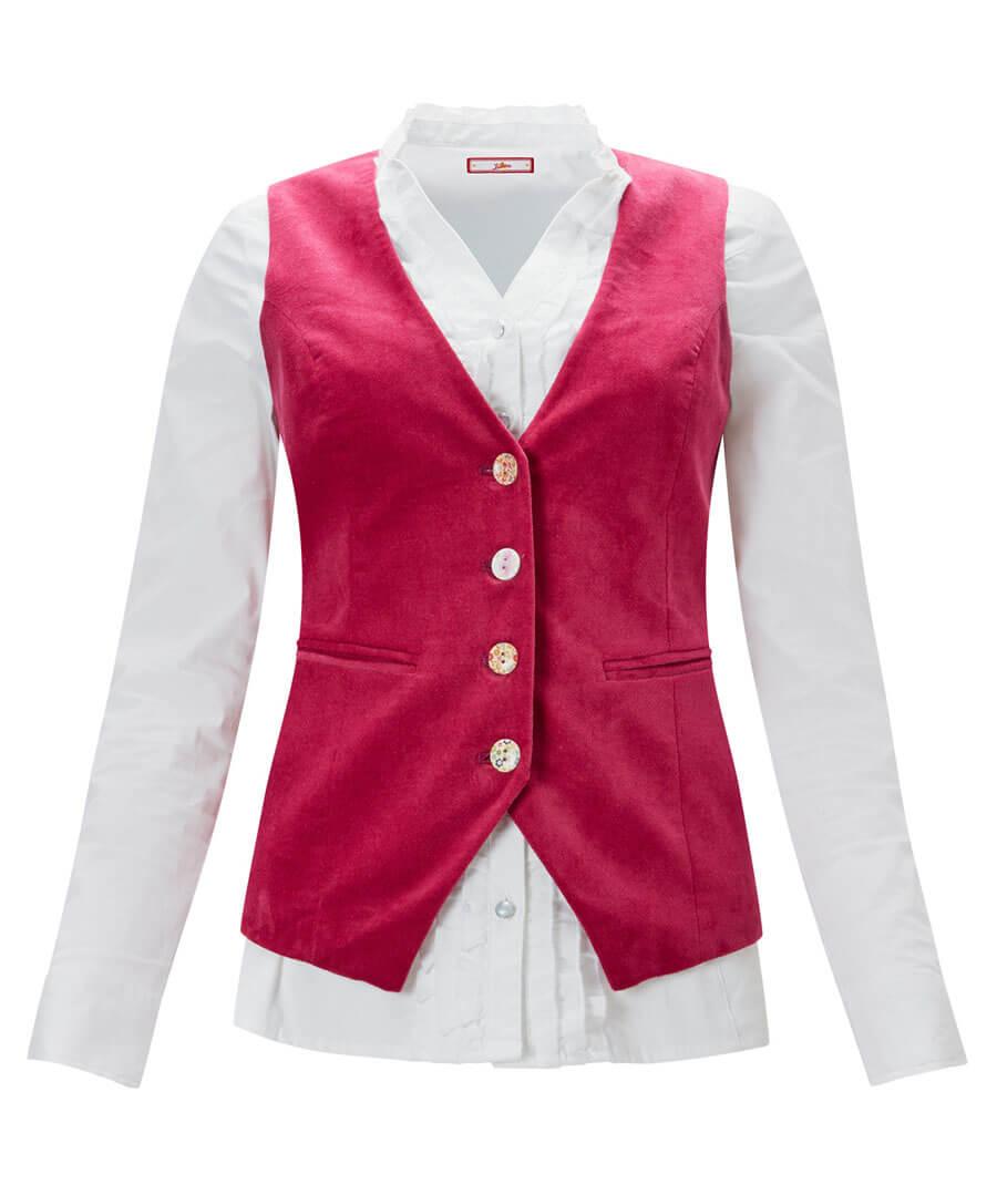 Stunning Pink Waistcoat Model Front