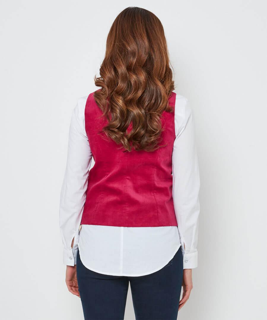 Stunning Pink Waistcoat Model Back