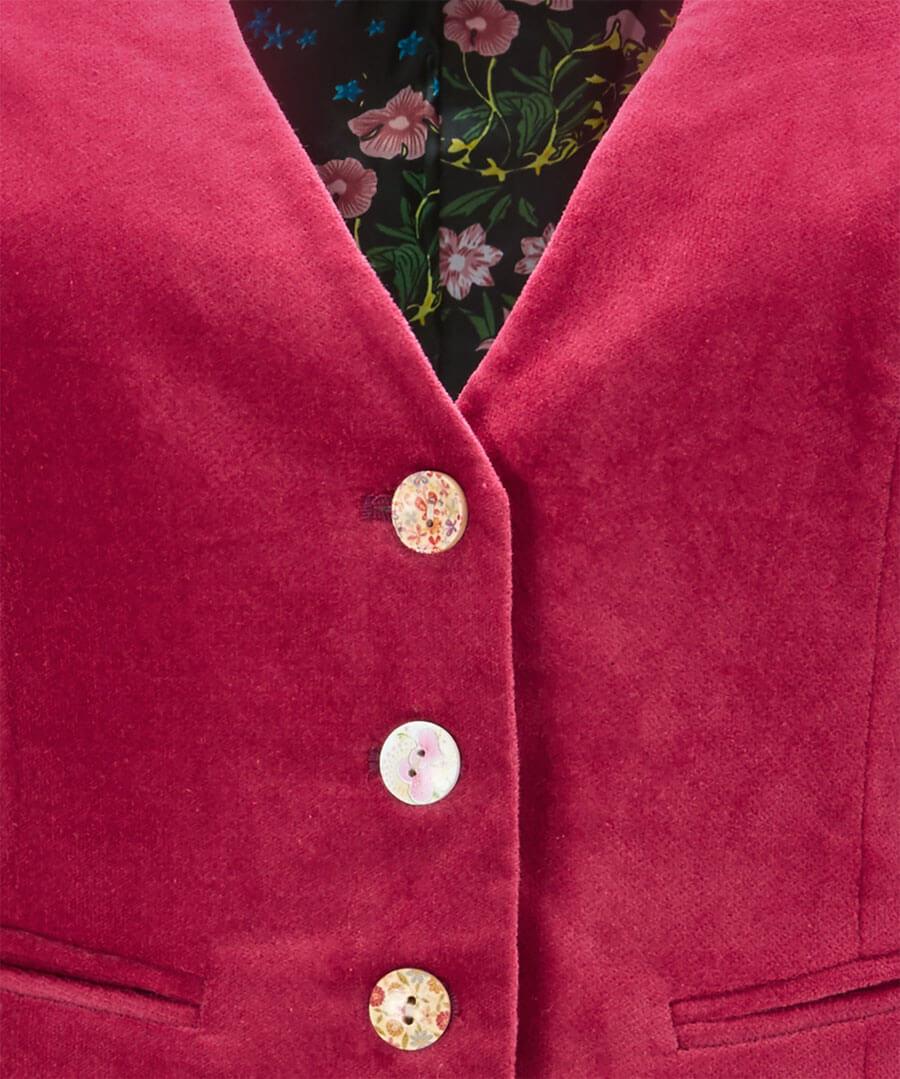 Stunning Pink Waistcoat Back