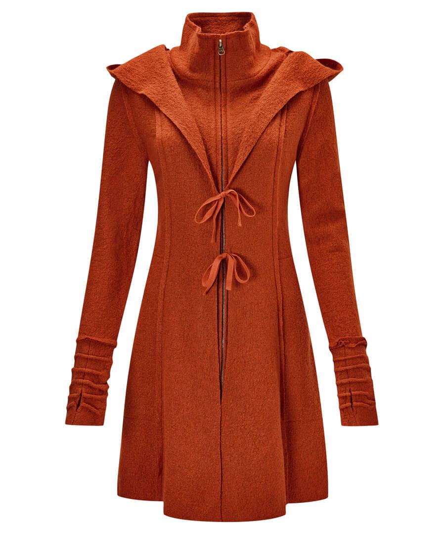 Vibrant Boiled Wool Blend Jacket Model Back