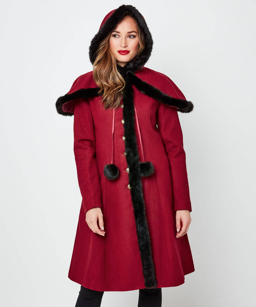 Beautiful Belle Coat Model Front