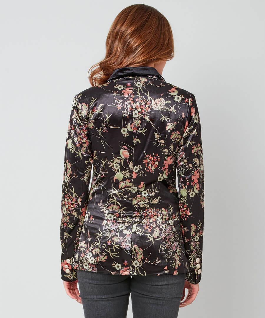 Valentina Velvet Jacket Model Back