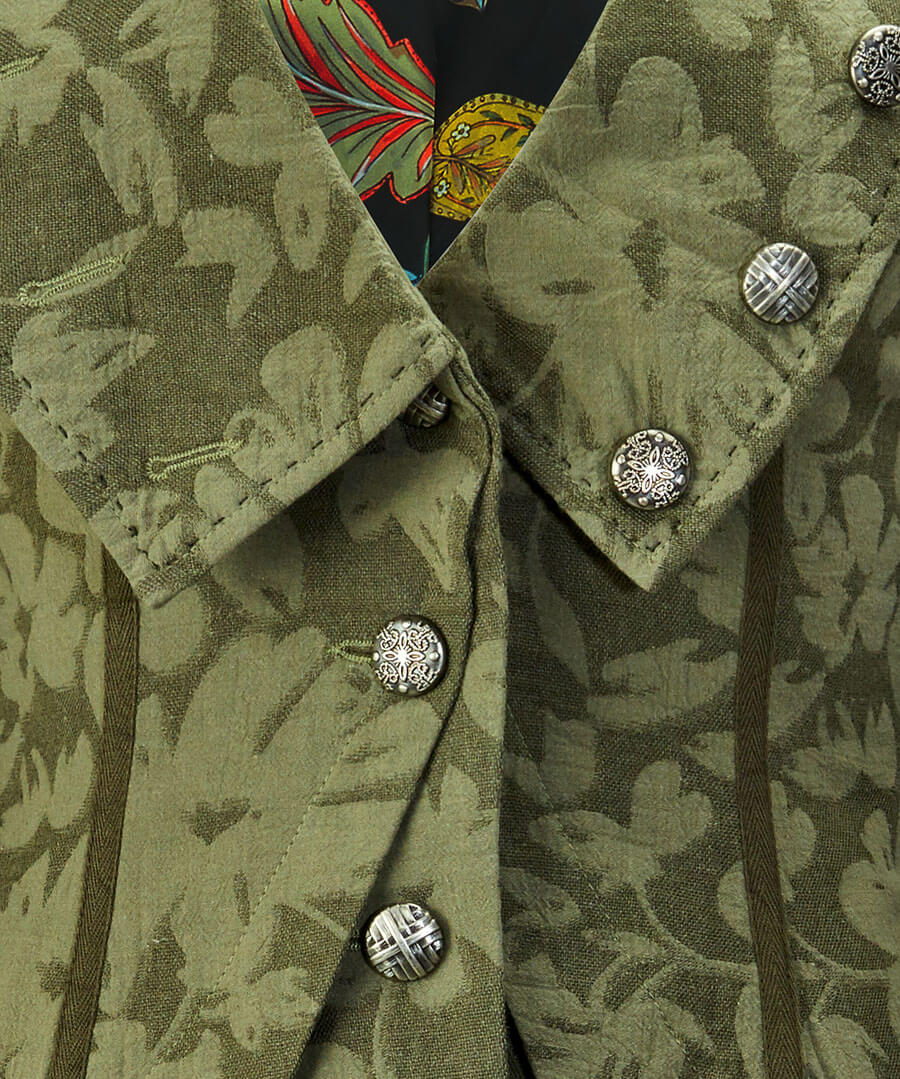 Green Garden Jacket Back