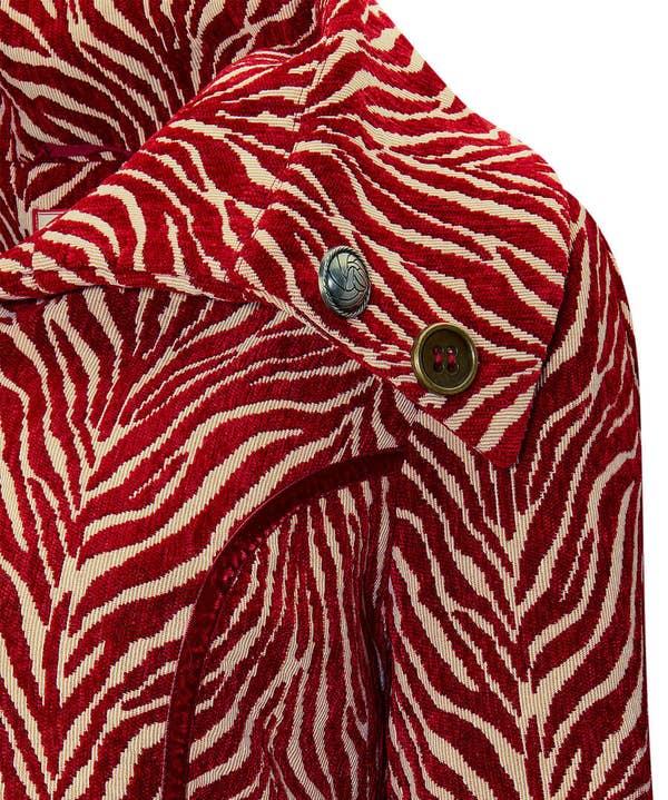 Jacquard Zebra Coat