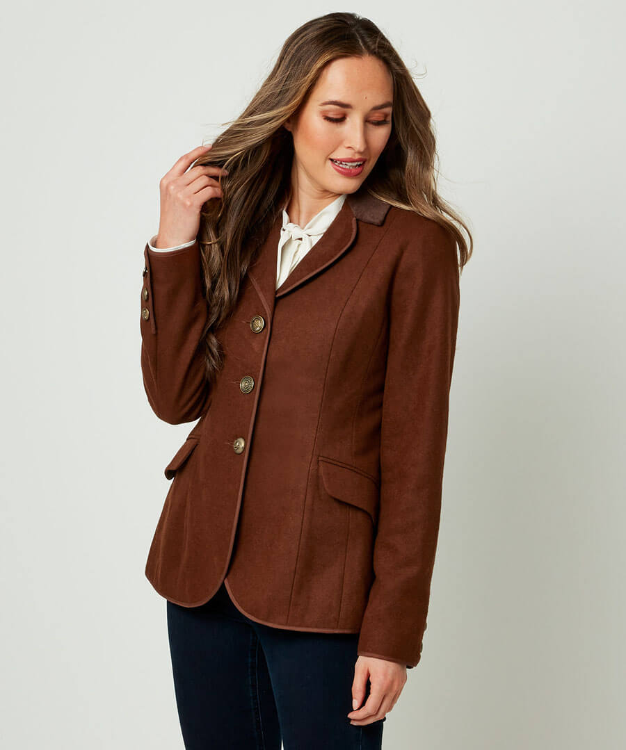 1940s Coats & Jackets Fashion History Charming Chocolate Jacket $65.00 AT vintagedancer.com