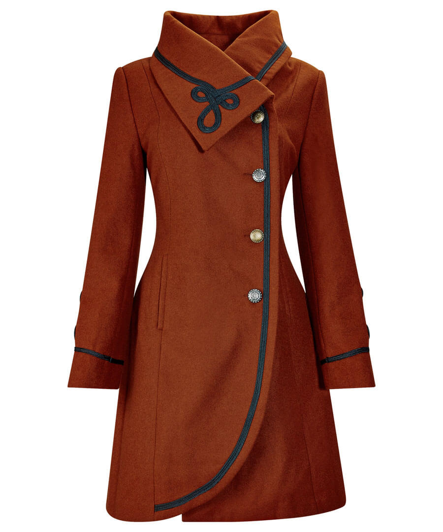 Vintage Coats & Jackets | Retro Coats and Jackets Elegant Collar Coat $90.00 AT vintagedancer.com