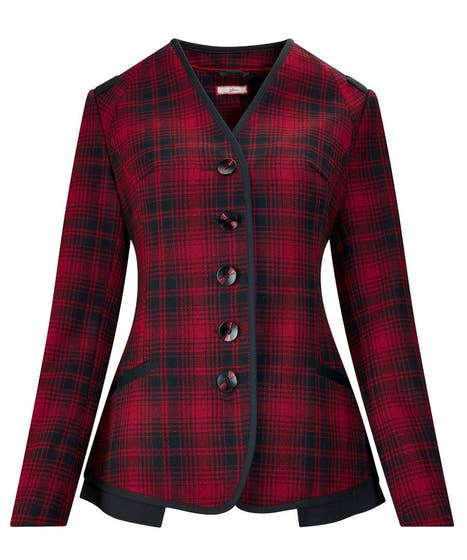 Sophisticated Check Jacket