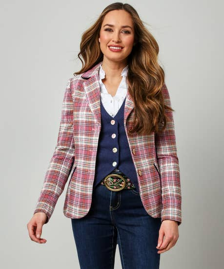 Rose Check Jacket