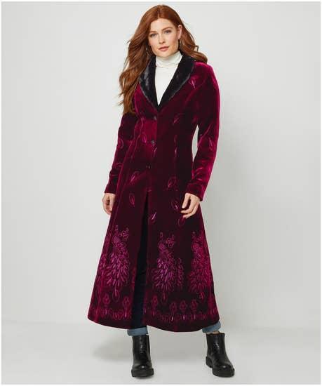 70s Jackets, Furs, Vests, Ponchos Limited Edition Joes Perfection Peacock Coat $167.00 AT vintagedancer.com