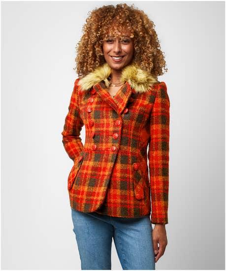 Cosy Check Autumn Jacket