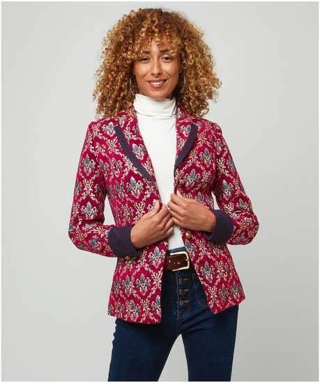 Joyful Jacquard Jacket
