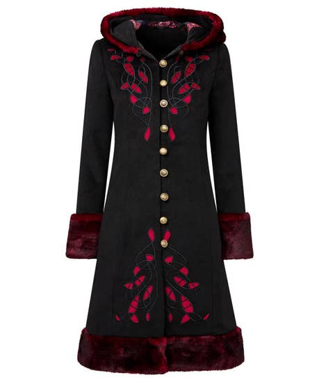 Steampunk Clothing, Fashion, Costumes Winter Wonderland Coat $167.00 AT vintagedancer.com
