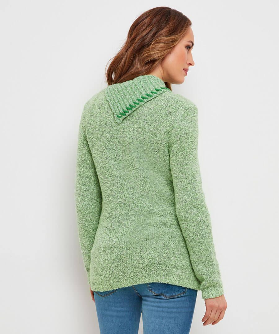 Green Green Grass Jumper Model Back