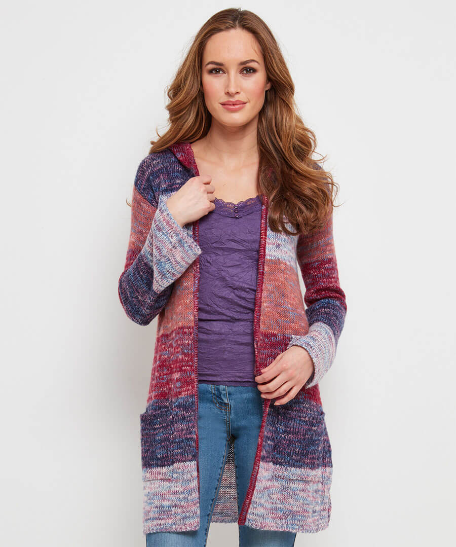 Bright Boutique Long Cardigan Model Front