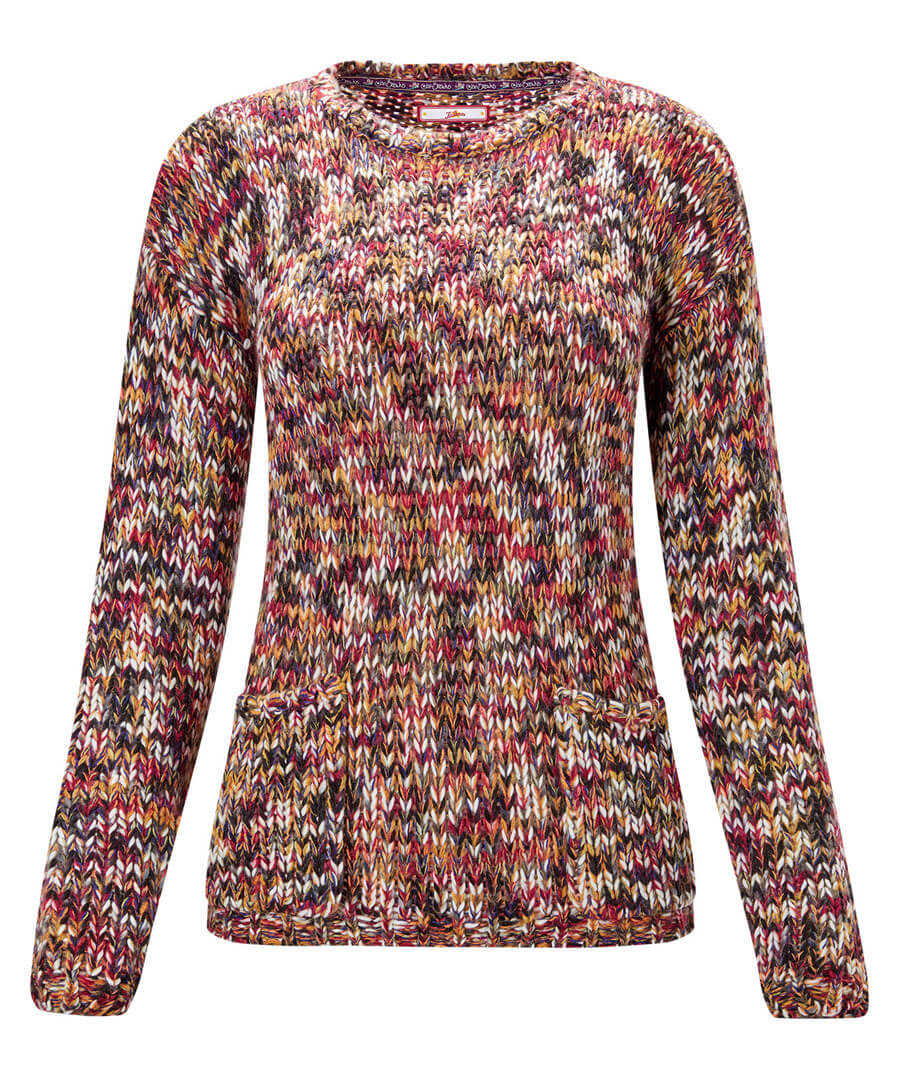 Autumn Rainbow Jumper Model Front