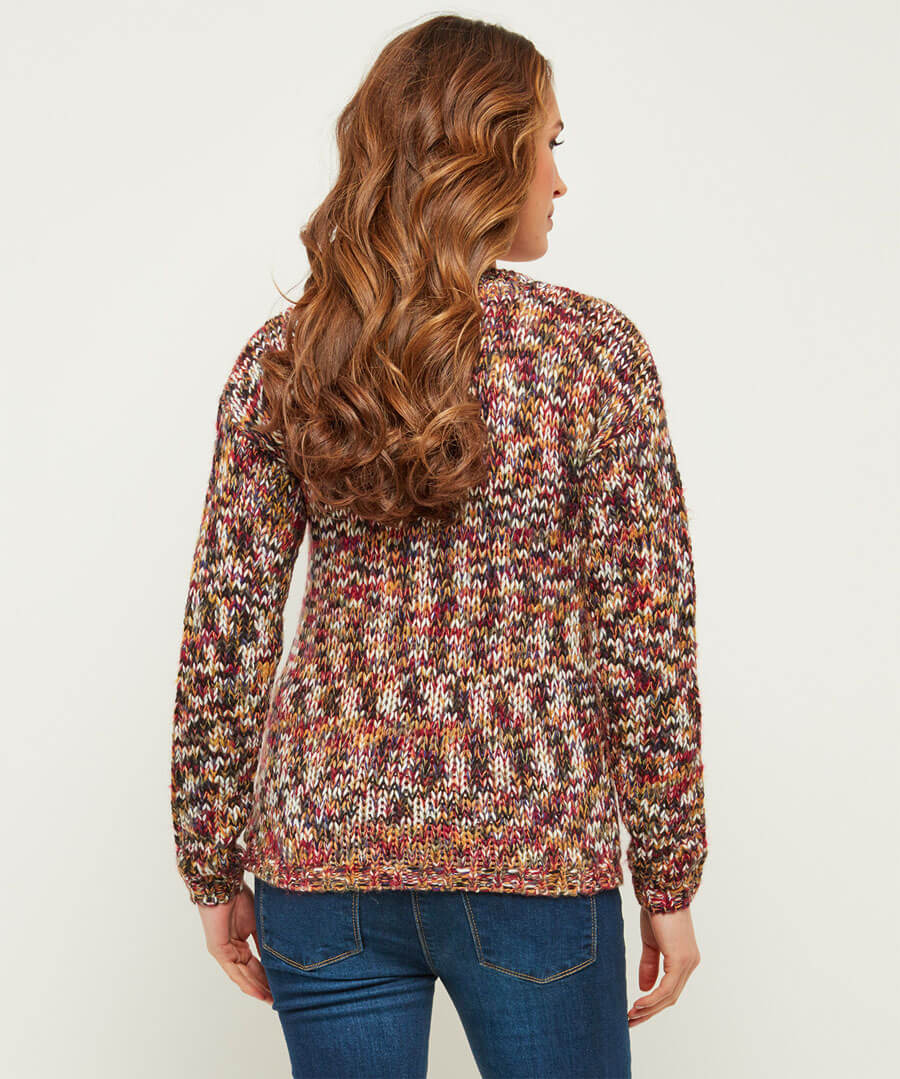 Autumn Rainbow Jumper Model Back