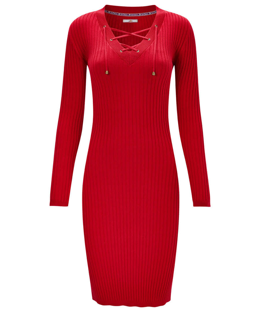 Rock Chick Ribbed Dress Model Front