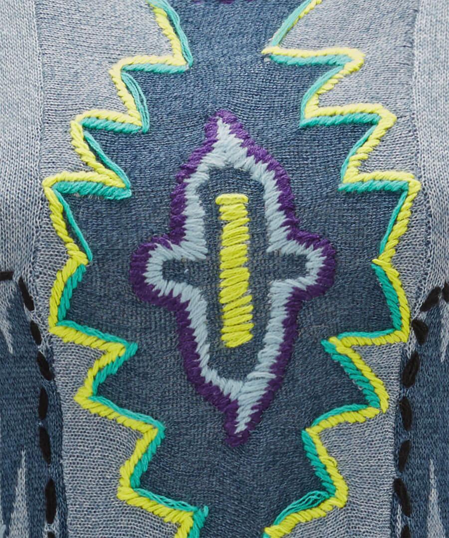 Peruvian Embroidered Knit Back