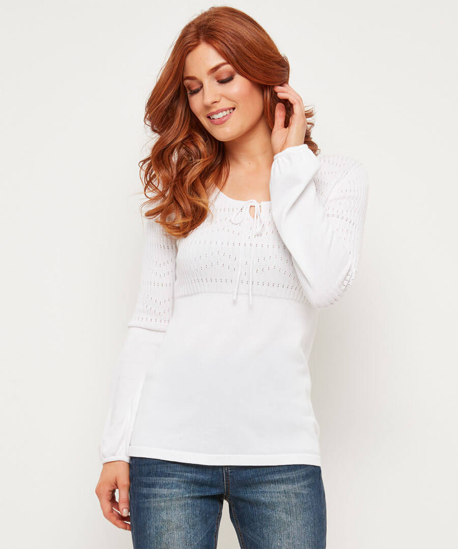 Sweetheart Pointelle Knit
