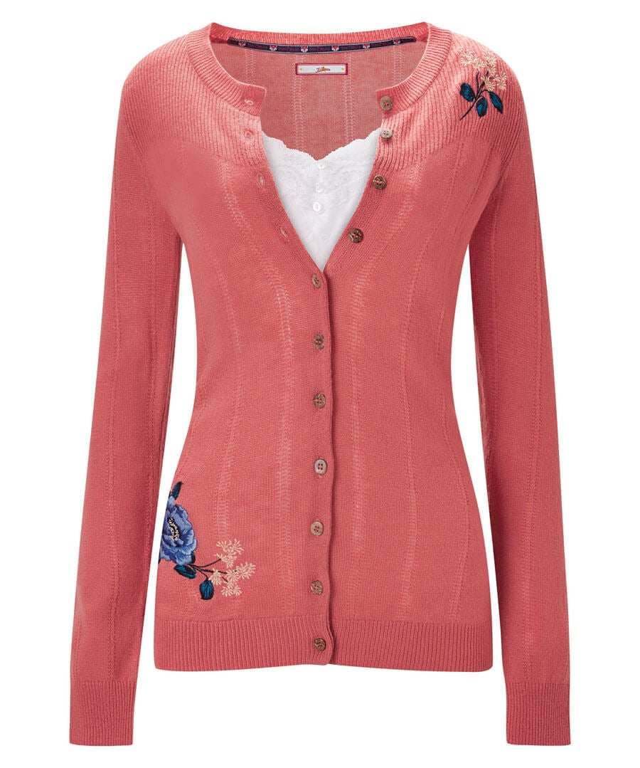 Lovely Embroidered Cardigan Model Front