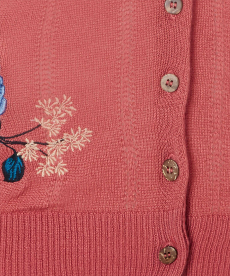 Lovely Embroidered Cardigan Back