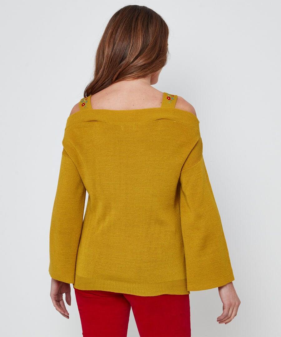 Unique Strappy Knit Model Back