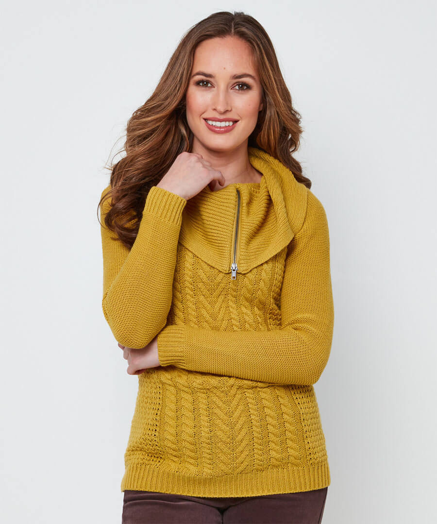 Quirky Collared Knit