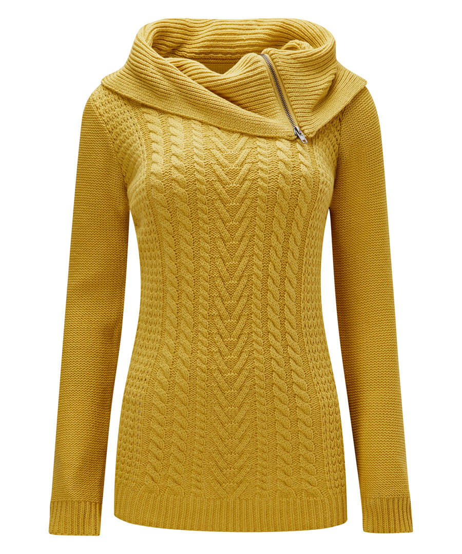 Quirky Collared Knit Model Front