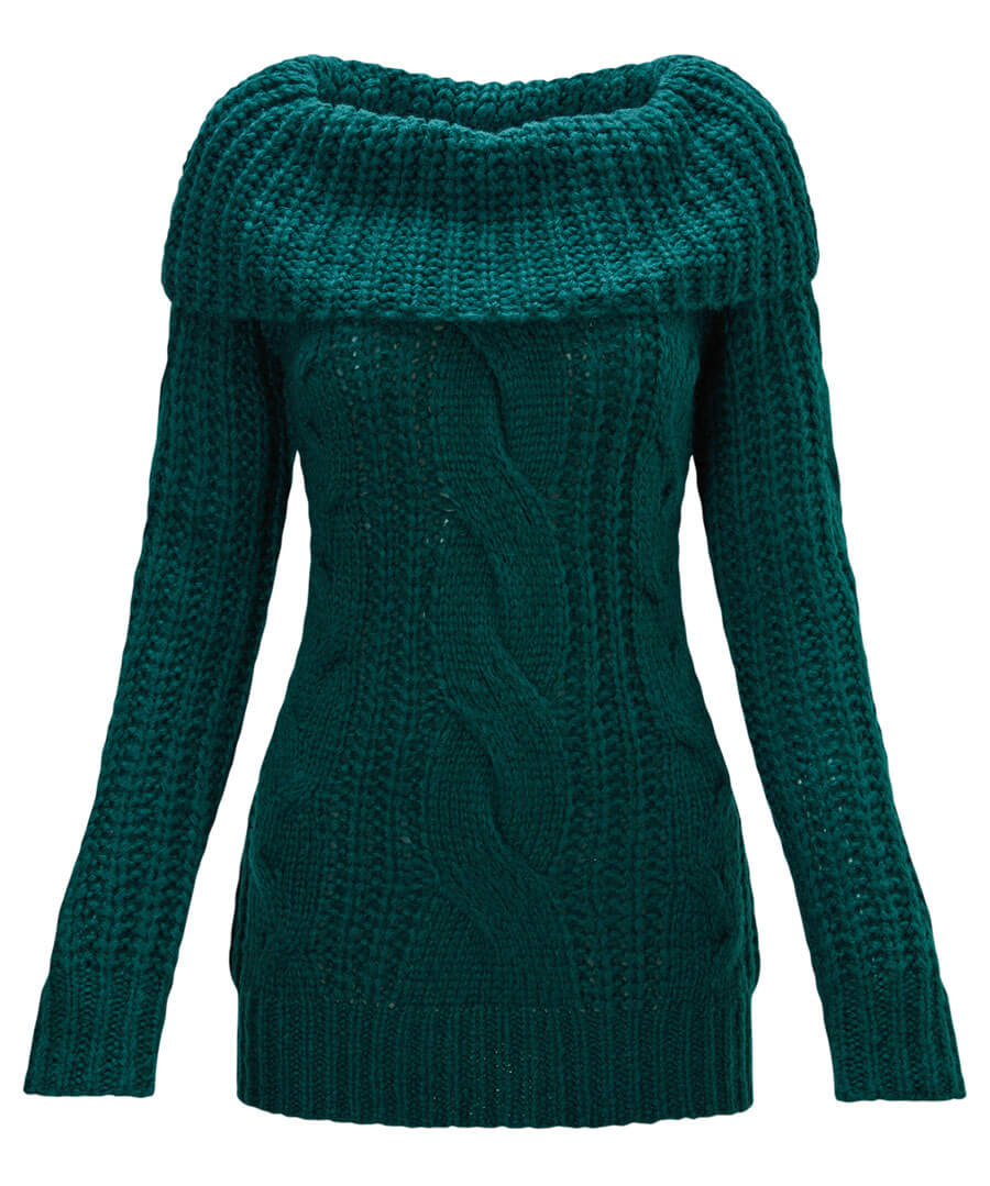 Chunky Knit Jumper Model Front