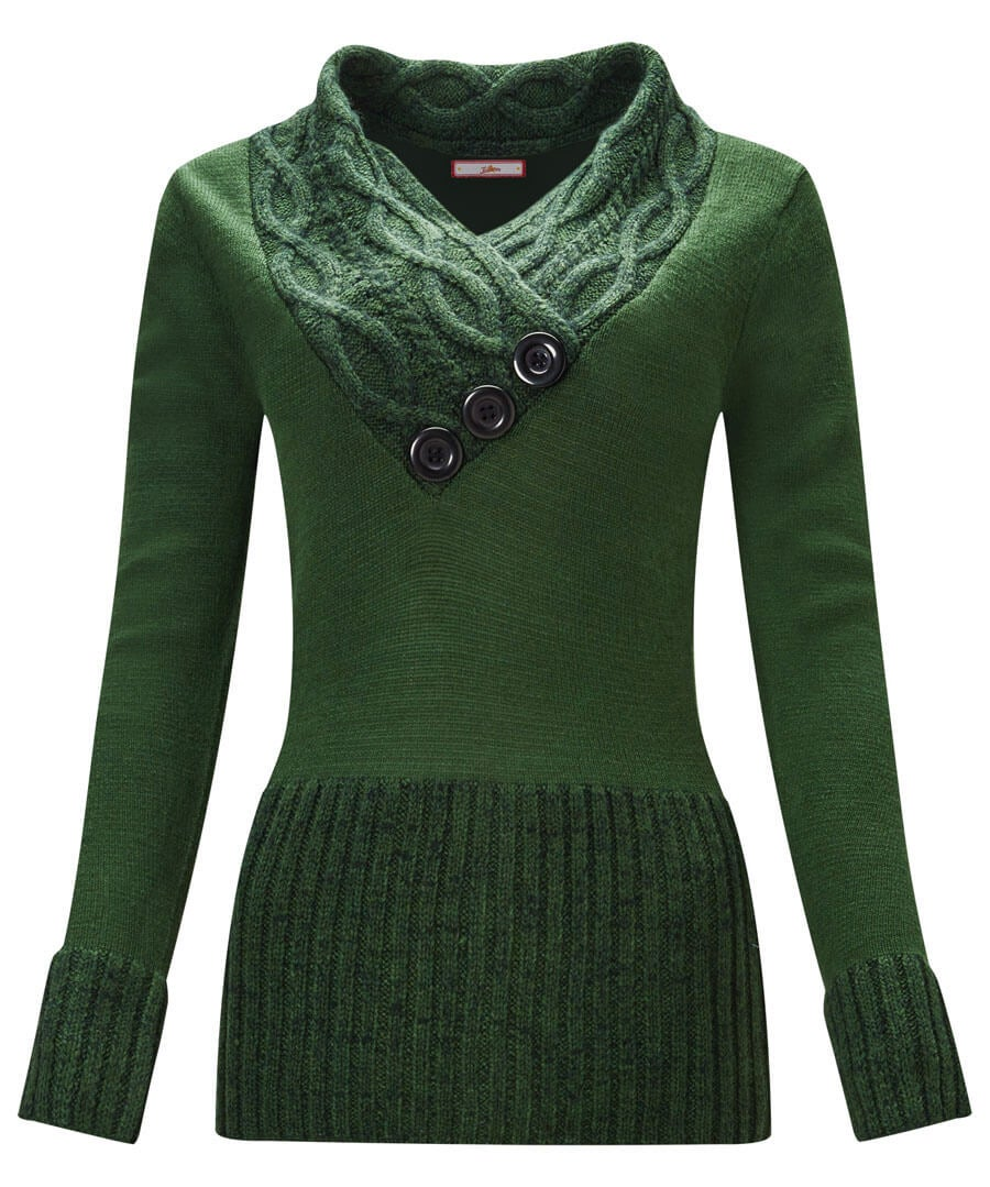 Curiously Cosy Knit Model Front