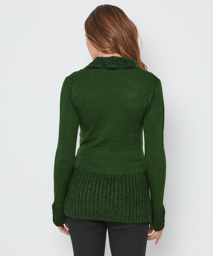 Curiously Cosy Knit Model Back