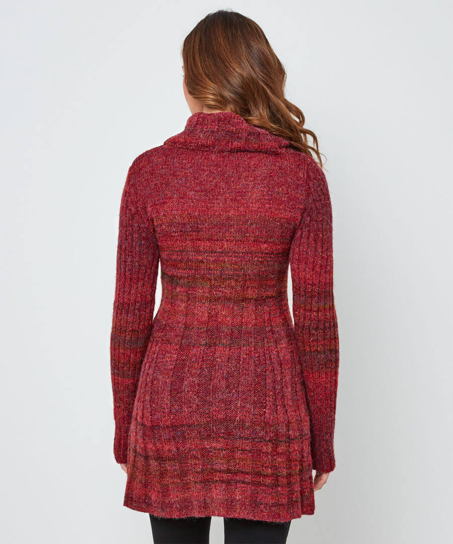 Cosy Longline Knit Model Back