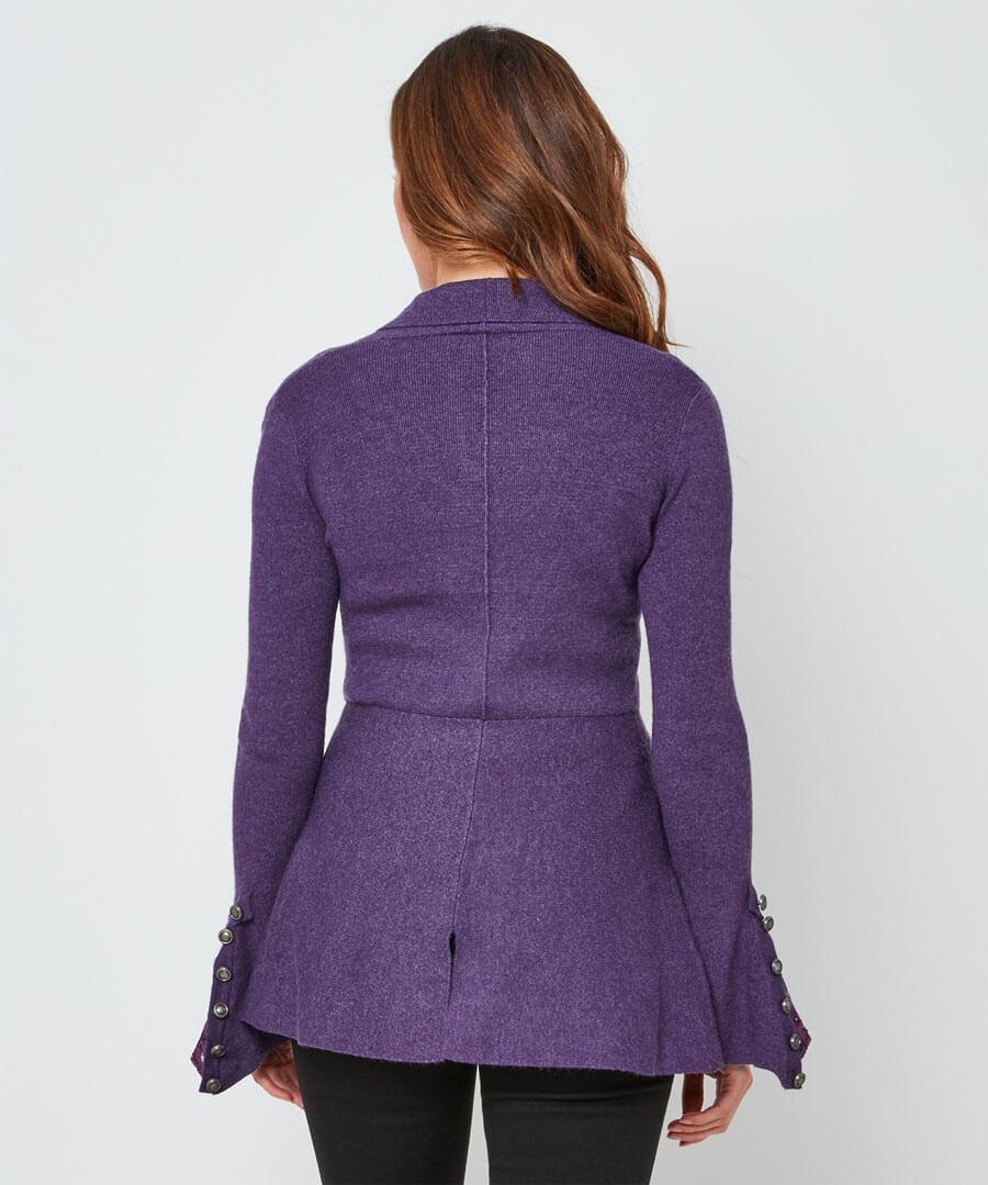 Fluted Sleeve Knit Model Back