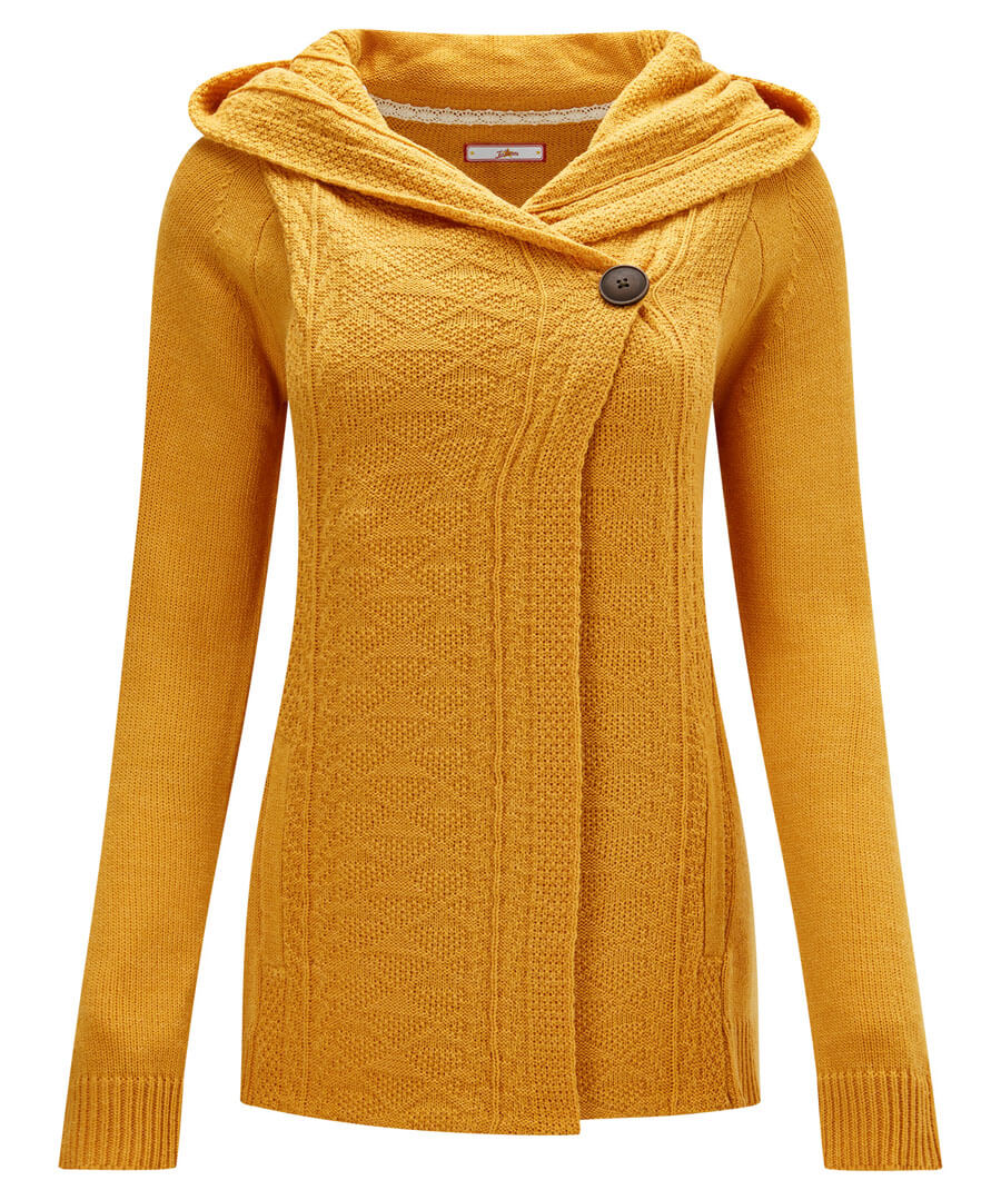 Vintage Sweaters, Retro Sweaters & Cardigan Cosy Hooded Knit $40.00 AT vintagedancer.com