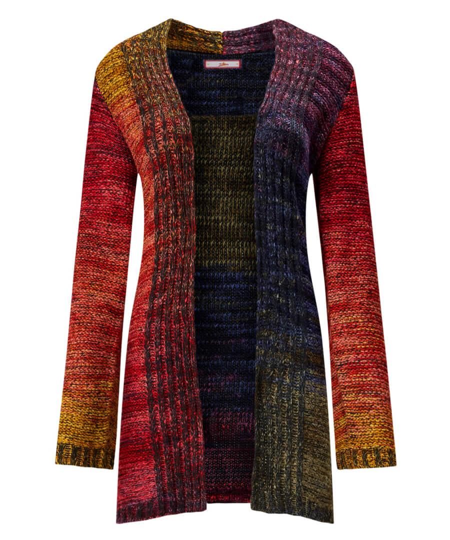 Multicoloured Longline Cardigan