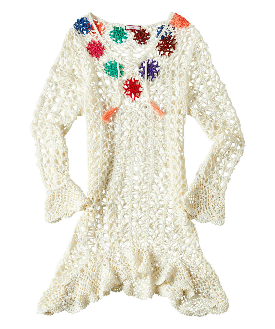 Quirky Crochet Dress Model Front