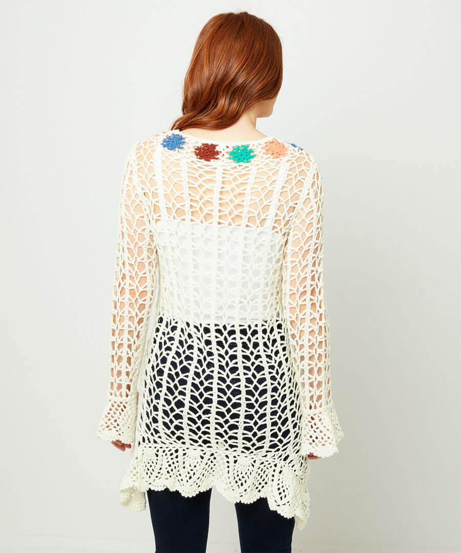 Quirky Crochet Dress Model Back