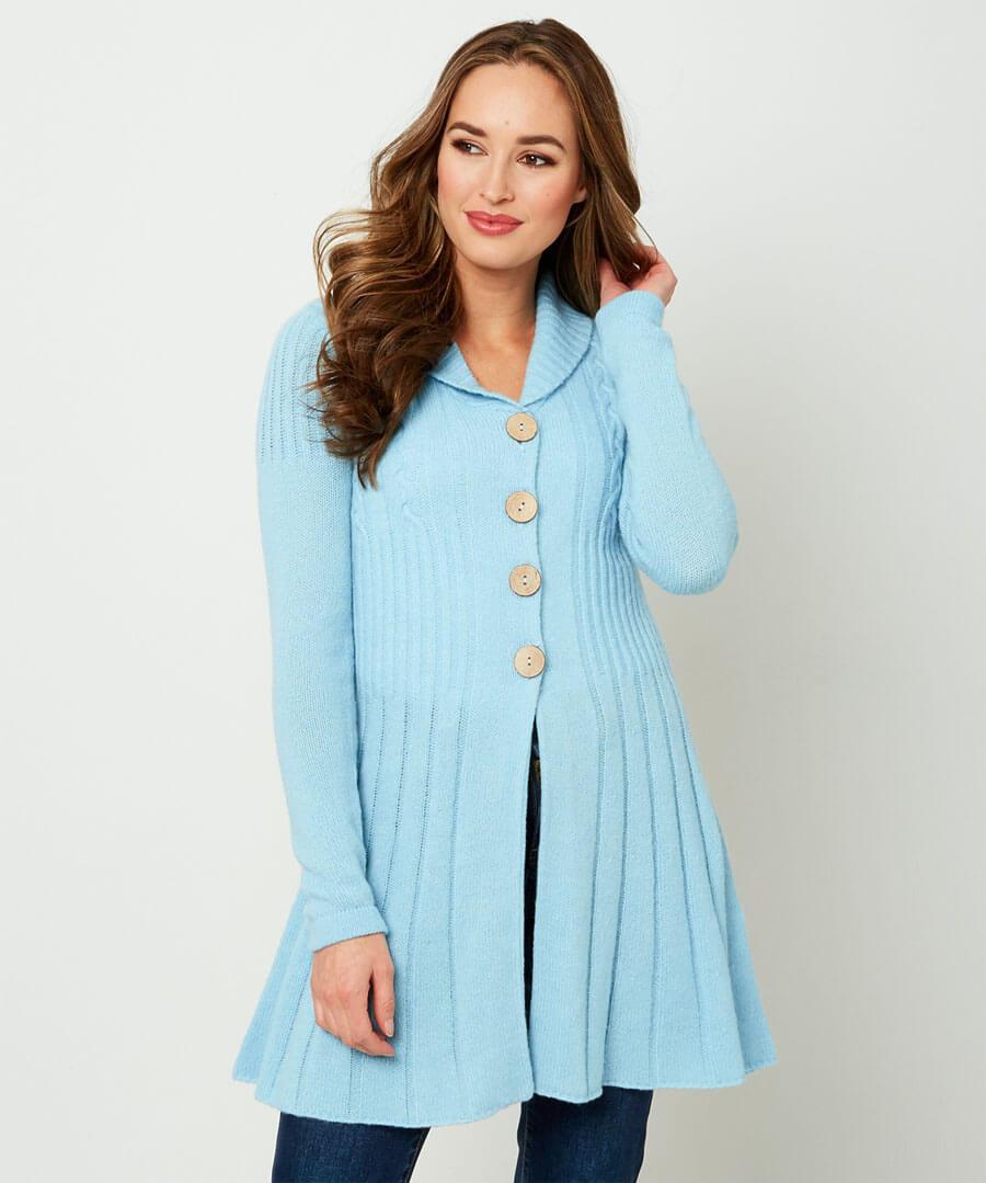 Unique Knit Cardigan Model Front