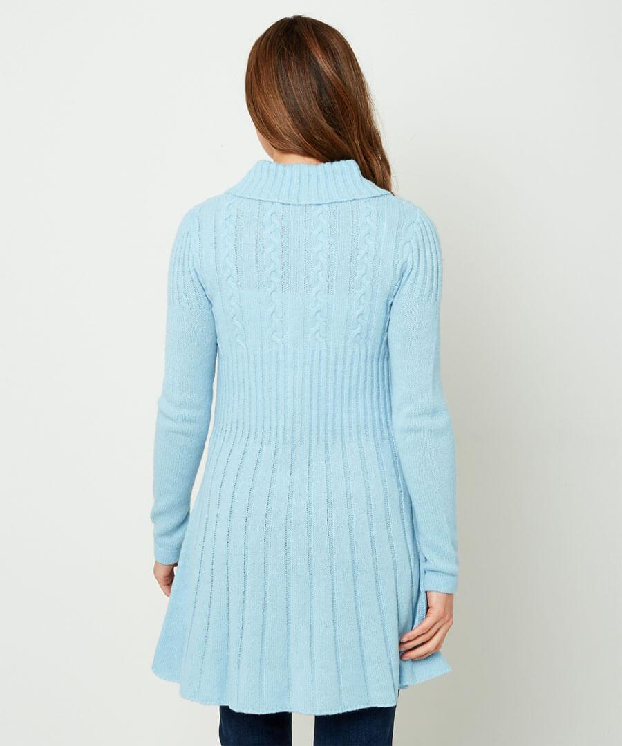Unique Knit Cardigan Model Back
