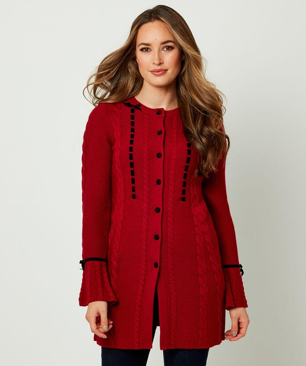 Velvet Button Cardigan
