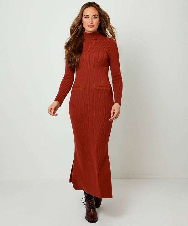 Fabulous Ribbed Knitted Dress
