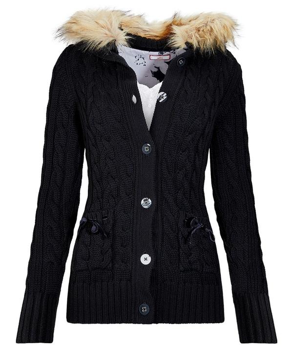 Furry Hood Cardigan