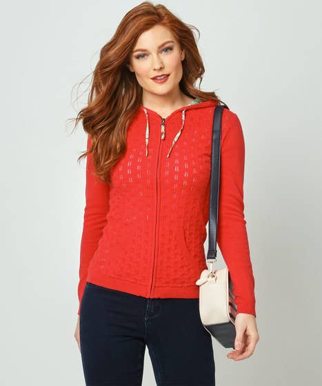 Perfect Pointelle Hooded Knit