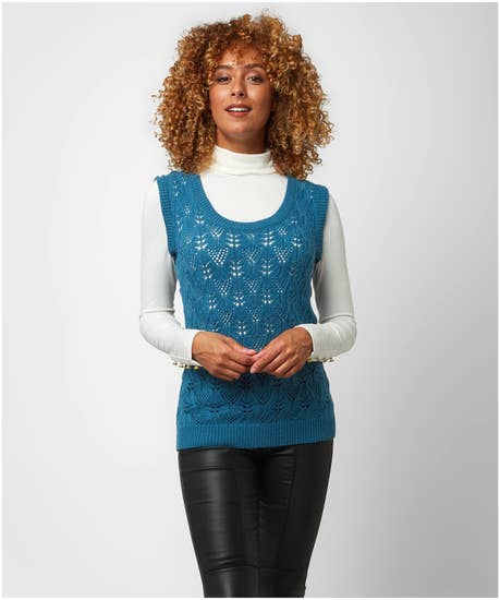 Retro Knitted Vest Top